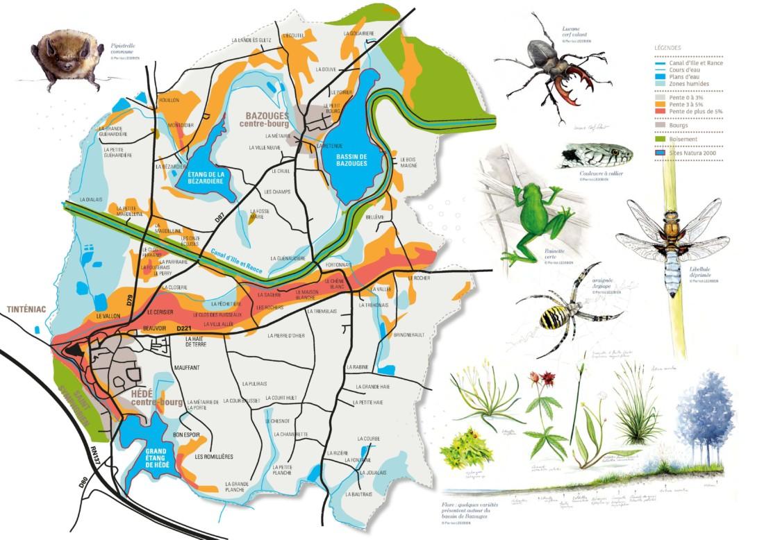 Carte de la biodiversité à Hédé-Bazouges