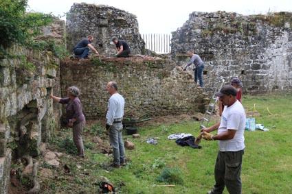 Chantier bénévole au chateau