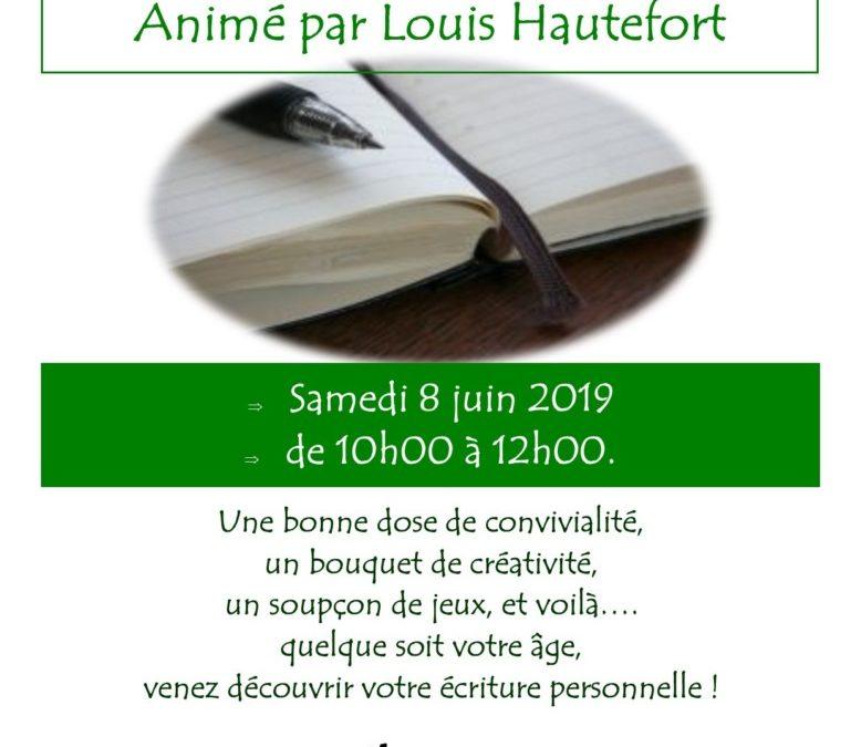 Atelier d'écriture avec Louis Hautefort