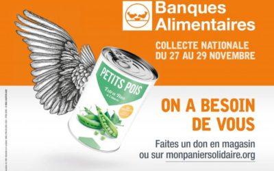 Collecte Nationale des Banques Alimentaires : on compte sur vous !